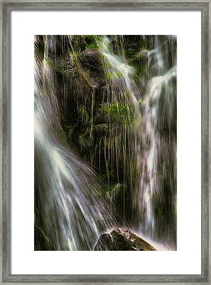 Inside The Falls Framed Print by John Haldane