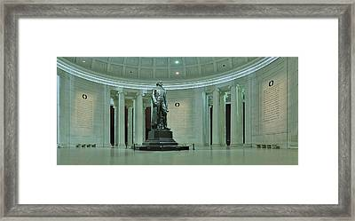 Inside The Jefferson Memorial Framed Print by Metro DC Photography