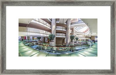 Inside The Renaissance Center In Detroit Framed Print by John McGraw