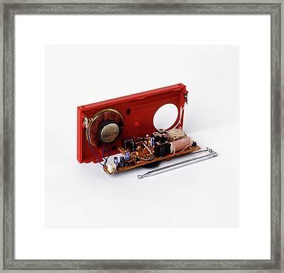 Insides Of A Portable Radio Framed Print by Dorling Kindersley/uig
