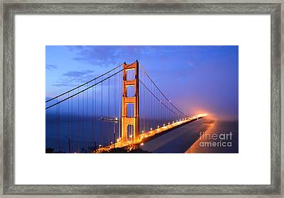 The Golden Gate Bridge Framed Print by Along The Trail