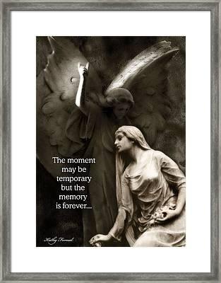 Inspirational Angel Art Ethereal Spiritual Angel Art - Mourning Angel Inspirational Art Framed Print by Kathy Fornal