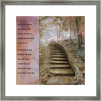 Inspirational Art Nature - Stairs To Heaven - Dreamy Nature Framed Print by Kathy Fornal