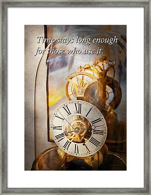 Inspirational - Time - A Look Back In Time - Da Vinci Framed Print by Mike Savad