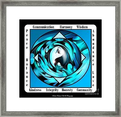 Inspirational Yin Yang  Framed Print by Bobbee Rickard