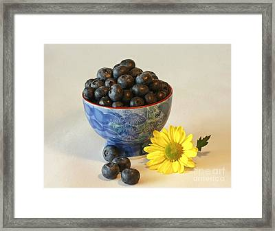 Inspired By Blue Berries Framed Print by Inspired Nature Photography Fine Art Photography