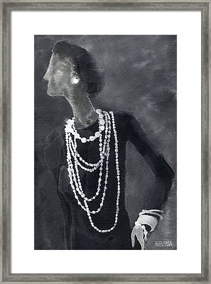 Inspired By Chanel Fashion Illustration Art Print Framed Print by Beverly Brown Prints