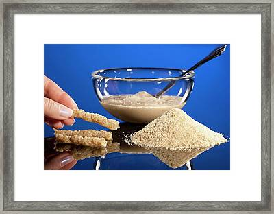 Instant Corn-soy Blend Framed Print by Peggy Greb/us Department Of Agriculture