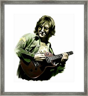 Instant Karma  John Lennon Framed Print by Iconic Images Art Gallery David Pucciarelli