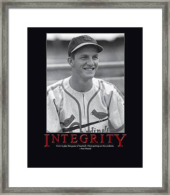 Integrity Stan Musial Framed Print by Retro Images Archive