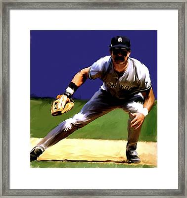 Intensity  Don Mattingly Framed Print by Iconic Images Art Gallery David Pucciarelli