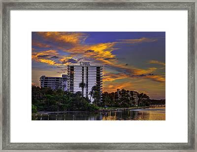 Intercoastal Sky Framed Print by Marvin Spates
