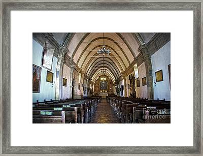 Interior Basilica Carmel Mission Framed Print by RicardMN Photography