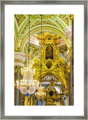 Interior - Cathedral Of Saints Peter And Paul - St Petersburg Russia Framed Print by Jon Berghoff
