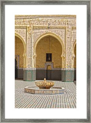 Interior Mausoleum Moulay Ismail Framed Print by Patricia Hofmeester