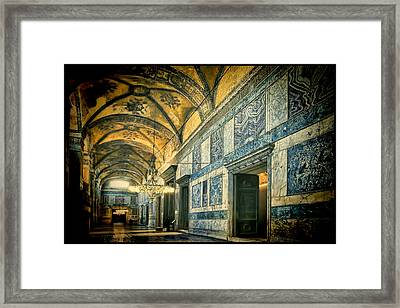 Interior Narthex Framed Print by Joan Carroll