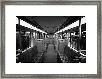 Interior Of A German U-bahn Train Berlin Germany Framed Print by Joe Fox