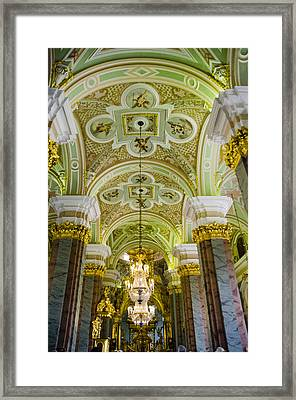 Interior Of Cathedral Of Saints Peter And Paul - St. Petersburg  Russia Framed Print by Jon Berghoff