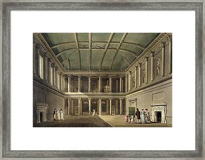 Interior Of Concert Room, From Bath Framed Print by John Claude Nattes