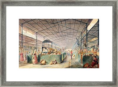 Interior Of Les Halles Framed Print by Max Berthelin