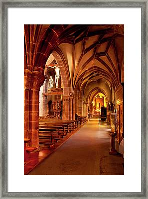 Interior Of Sainte Croix Church Framed Print by Brian Jannsen