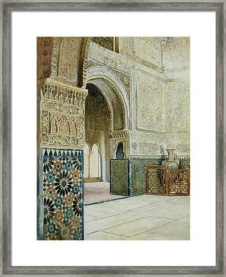 Interior Of The Alhambra  Framed Print by French School