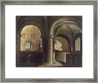 Interior Of The Church Of The Holy Framed Print by Augustus Charles Pugin