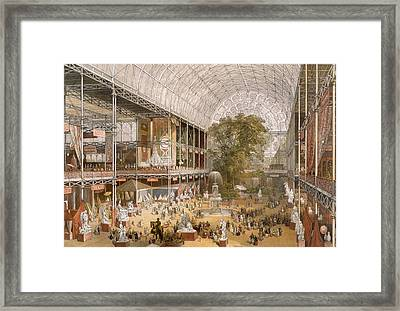 Interior Of The Internation Exhibition Framed Print by English School