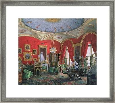 Interior Of The Winter Palace Wc On Paper Framed Print by Eduard Hau