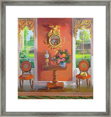 Interior Oil On Board Framed Print by William Ireland