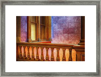 Interior Space At The Tippecanoe County Framed Print by Rona Schwarz