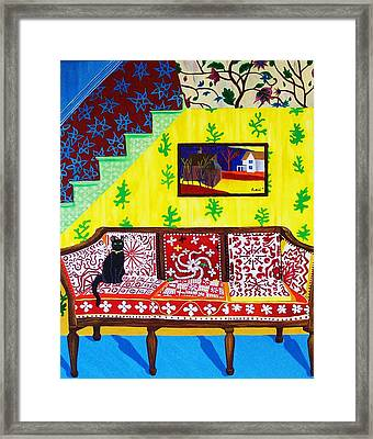 Interior With Cath Framed Print by Rivkah Singh