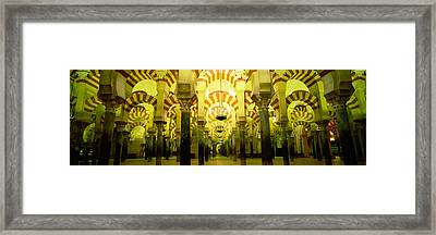 Interiors Of A Cathedral, La Mezquita Framed Print by Panoramic Images