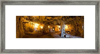 Interiors Of A Prehistoric Cave, Karain Framed Print by Panoramic Images