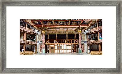 Interiors Of A Stage Theater, Globe Framed Print by Panoramic Images