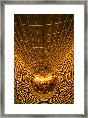 Interiors Of Jin Mao Tower Looking Framed Print by Panoramic Images
