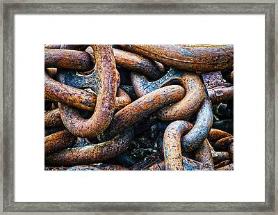 Interlocked Framed Print by Christi Kraft
