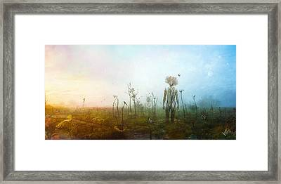 Digital Manipulation Framed Print featuring the digital art Internal Landscapes by Mario Sanchez Nevado