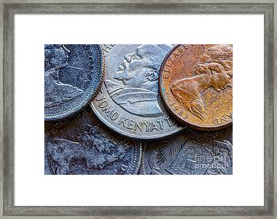 International Coins Framed Print by Heidi Smith