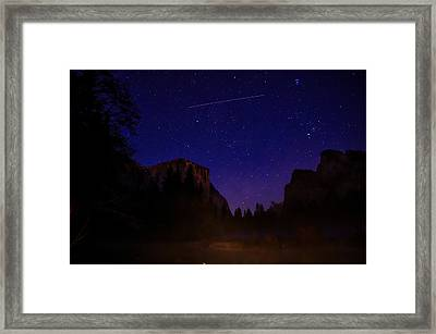 International Space Station Over Yosemite National Park Framed Print by Scott McGuire