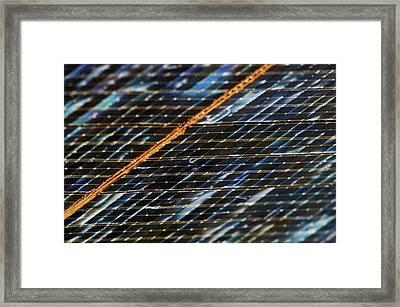 International Space Station Solar Panel Framed Print by Nasa