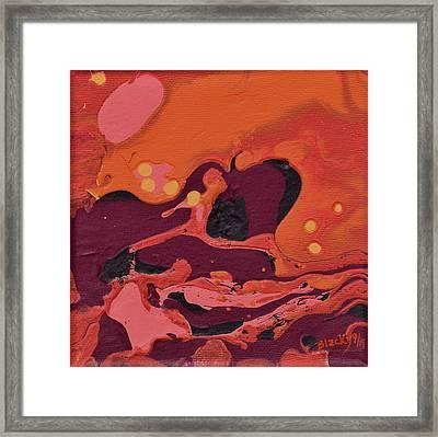 Interplanetary Baseball Framed Print by Donna Blackhall