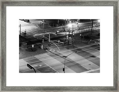 Intersection Framed Print by Heidi Smith