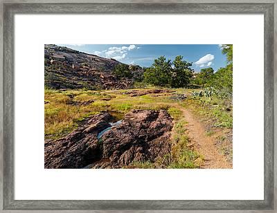 Intimacy At Enchanted Rock - Fredericksburg Llano - Texas Hill Country Framed Print by Silvio Ligutti