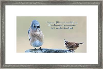 Intimidation Framed Print by Bonnie Barry
