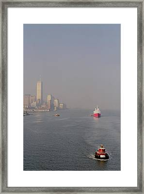 Into Port Framed Print by Joann Vitali