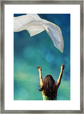 Into The Atmosphere Framed Print by Laura Fasulo