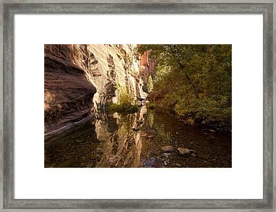 Into The Canyon  Framed Print by Saija  Lehtonen