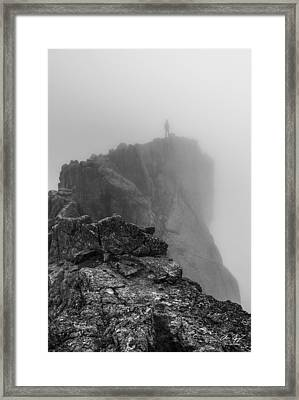 Into The Clouds Framed Print by Aaron Spong