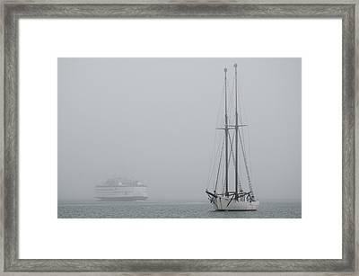 Into The Fog Framed Print by Steve Myrick